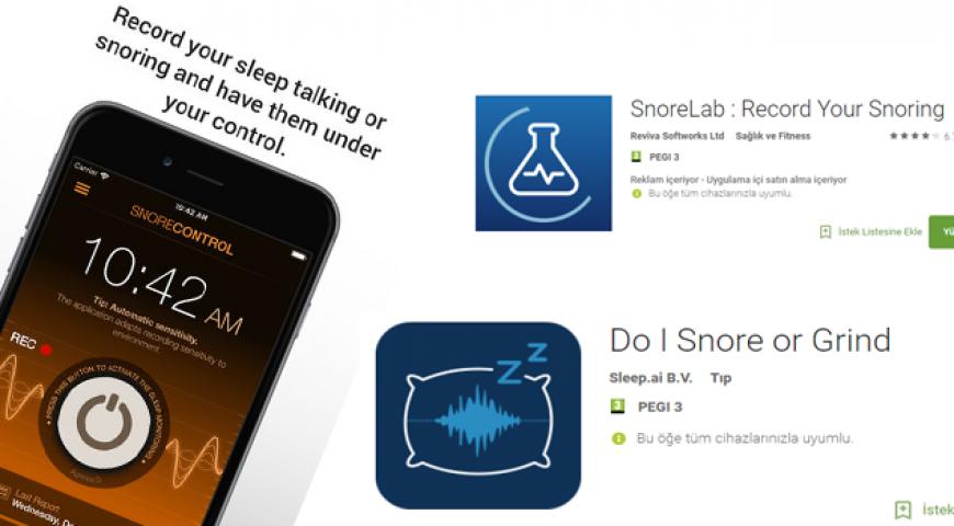 Horlama ve Uyku Apnesinin Akıllı Telefon Uygulamaları ile Tespiti