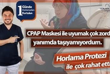 CPAP maskesi kullanmak çok zor